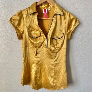 HeartSoul Gold Blouse Size Small